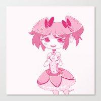 madoka magica Canvas Prints featuring Madoka  by n0rara