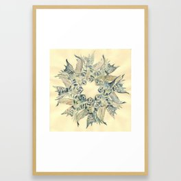 Clown Angelfish Mandala Framed Art Print