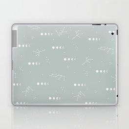 Moon phase boho zodiac sign moss mint green Laptop & iPad Skin