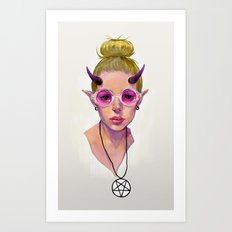 Monster Girl #3 Art Print