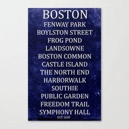 Boston 2 Canvas Print