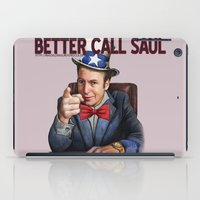 better call saul iPad Cases featuring Better Call Saul by Magdalena Almero