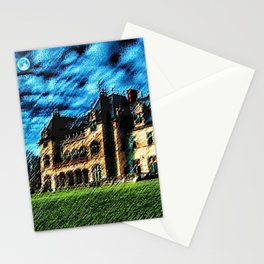 Ochre Court Châteauesque Mansion Painting - Newport, Rhode Island Mansions - Jéanpaul Ferro Stationery Cards