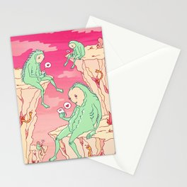 Love Canyon aliens technology scifi sci-fi surrealist print Stationery Cards