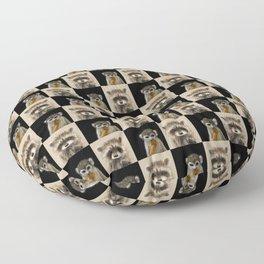Guenon Racoon Pattern Floor Pillow
