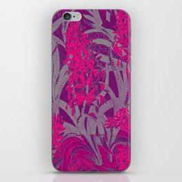 Colorful PINK Flowers Wallpaper design iPhone Skin