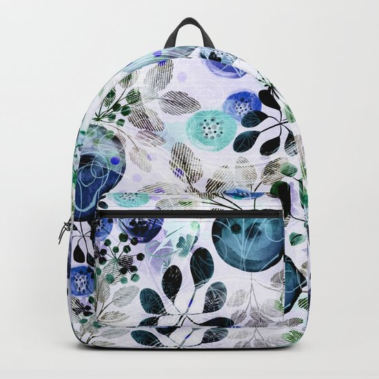 Abstract floral pattern.2 Backpack