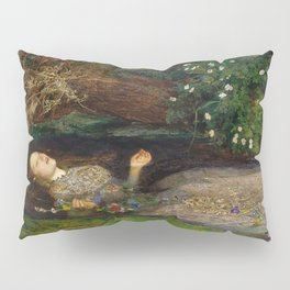 Ophelia from Hamlet Oil Painting by Sir John Everett Millais Pillow Sham