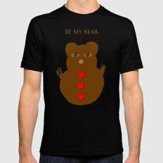 Be my bear Black MEDIUM Mens Fitted Tee
