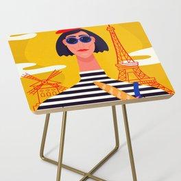 I Love Paris Side Table