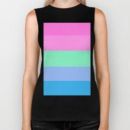 Pastel Polysexual Pride Biker Tank