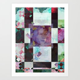 checkered past Art Print