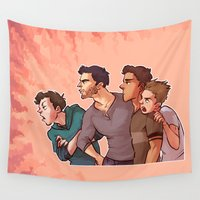 stiles Wall Tapestries featuring Scott McCall Defense Squad by krakenface