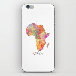 Africa map 2 iPhone Skin