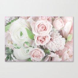 Pastel Pink Flowers Canvas Print