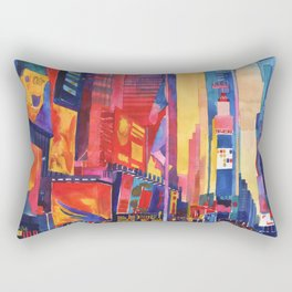 Times Square New York Rectangular Pillow