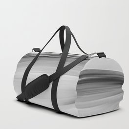 """Untitled 011"" Black and White Abstract Art by Murray Bolesta Duffle Bag"