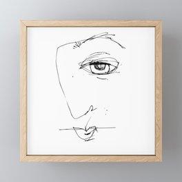 Doodle Face 4 by Kathy Morton Stanion Framed Mini Art Print