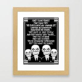 Buffy the Vampire Slayer -- Hush Poster (Black) Framed Art Print