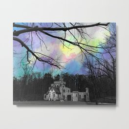 Watercolor Pastel Castle Metal Print
