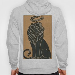 Vintage Lion Art Deco Illustration (1917) Hoody