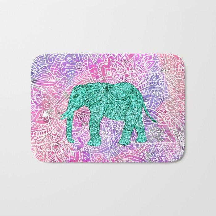 Elephant in Paisley Dream Bath Mat