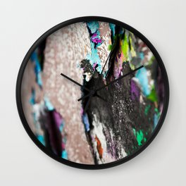 Old graffiti Wall Clock