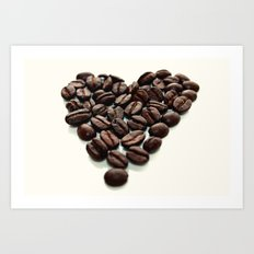 Coffee Hearts Art Print