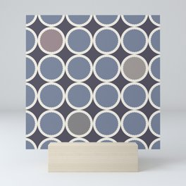 Scalloped Circles in Iris Mini Art Print