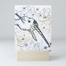 Nice Narwhal Mini Art Print