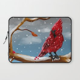 A cardinal in Winter Laptop Sleeve