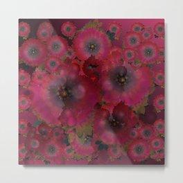 """Manila deep rose flowers"" Metal Print"