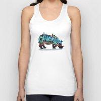 rhino Tank Tops featuring Rhino by mark ashkenazi