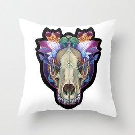 Wolf Skull Throw Pillow