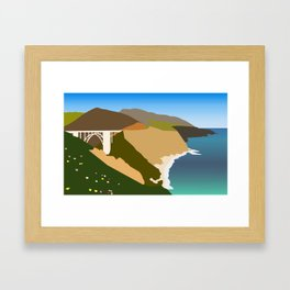 Big Sur Illustration Framed Art Print