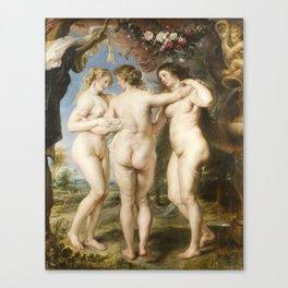Peter Paul Rubens - The Three Graces Canvas Print