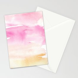 Pink Watercolor Wash Stationery Cards