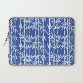 Bamboo Rainfall in China Blue/Seashell White Laptop Sleeve