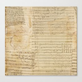 Classical music notations Canvas Print