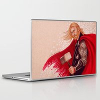 thor Laptop & iPad Skins featuring Thor by silvertales