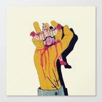 boneface Canvas Prints featuring You botched it! You botched it! by boneface