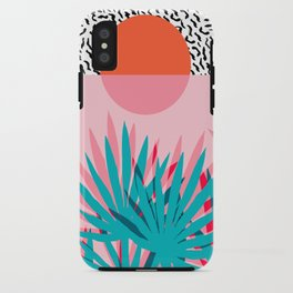 Whoa - palm sunrise southwest california palm beach sun city los angeles retro palm springs resort  iPhone Case