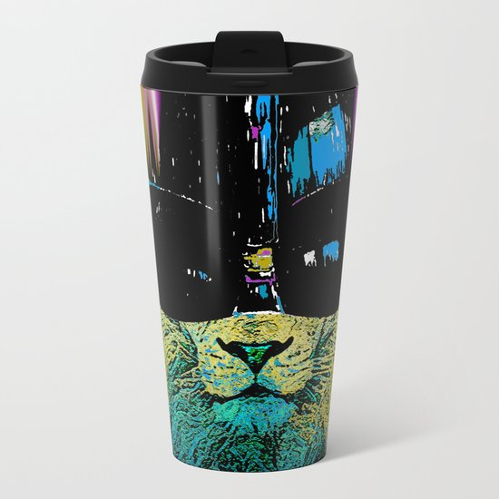 DARTH LION HIPSTER Metal Travel Mug