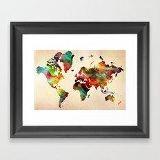 A Painted World Framed Art Print