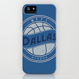 Dallas MFFL basketball royal blue vintage logo iPhone Case