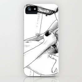 asc 443 - Le joystick (Toying with  Pong) iPhone Case
