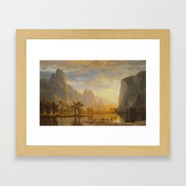Albert Bierstadt - Valley of the Yosemite Framed Art Print