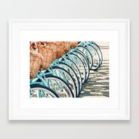 bicycles Framed Art Prints featuring Bicycles by Jewels