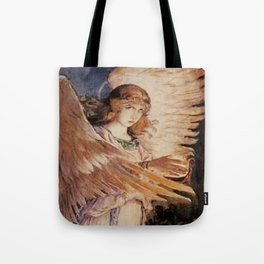 Angel With A Lamp by Victor Vasnetsov Tote Bag