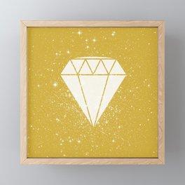 Space Diamond (gold) Framed Mini Art Print